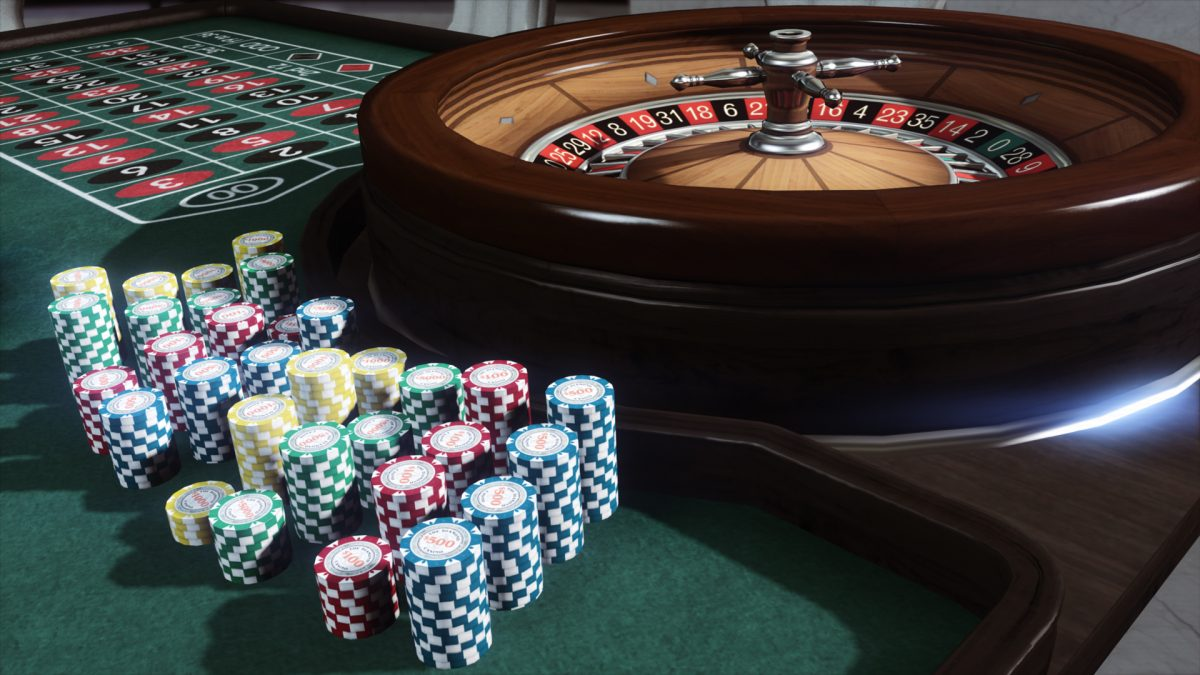 roulette render and chips